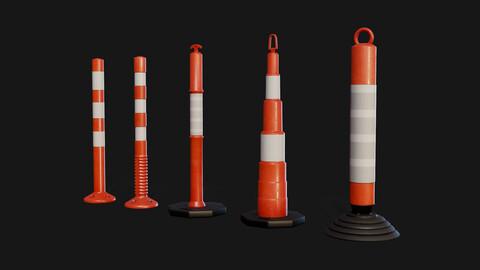 WarningPost 3D model Pack