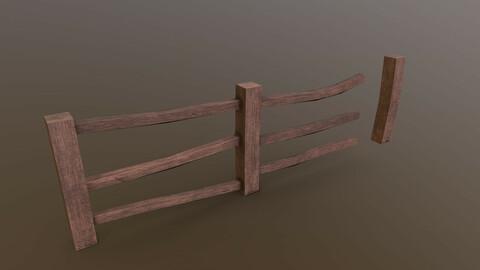 Wooden Fence 2 Modular