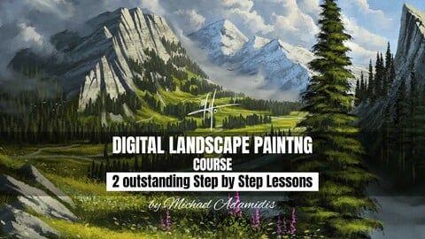 The Ultimate Digital Painting Course (Tutorial) - How to Paint Landscapes like Bob Ross