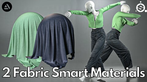 2 Fabric smart material : Cropped cardigan & oversized jeans