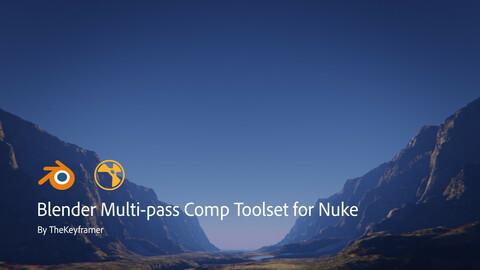 Blender Multi-pass Comp Toolset for Nuke