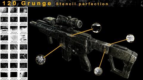 120 Grunge Stencil Imperfection - VOL 02
