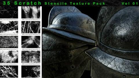 35 Scratch Stencile Texture Pack