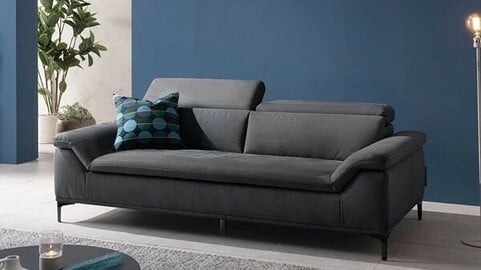 Four-Kid 3-Person Functional Sweep Fabric Sofa