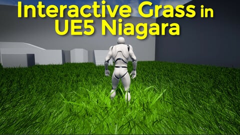Interactive Grass in UE5 Niagara
