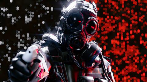 Cyberpunk Soldier