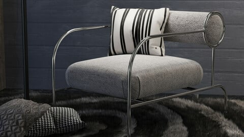 Lounge Chair02 + 2Mtl