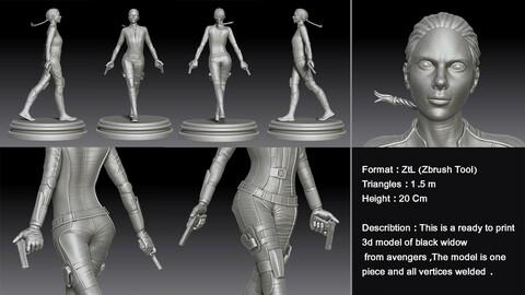 Blck widow 3d model for print