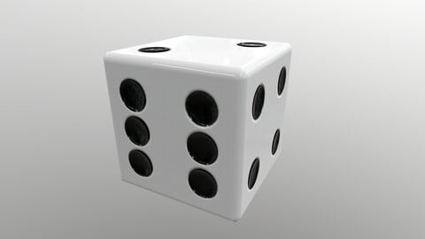 Dice d6 game ready PBR