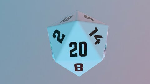 Dice d20 game ready PBR
