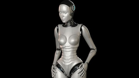 Robot Woman Rigged - BASIC EDITION 3D Model