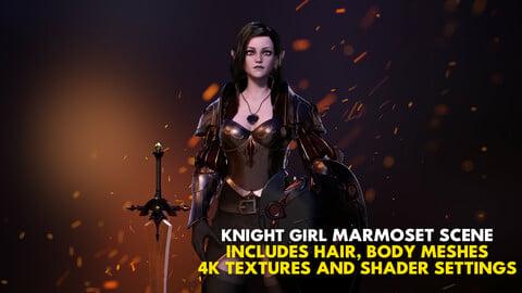 Knight Girl Marmoset Scene