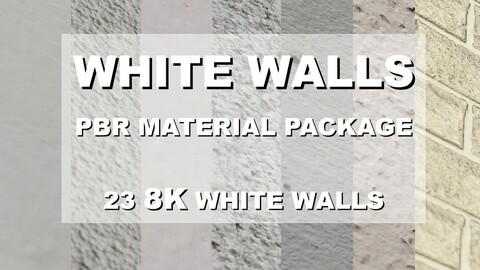 White Wall PBR Materials Pack