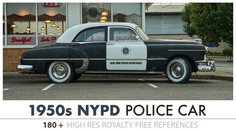 1950's POLICE CAR