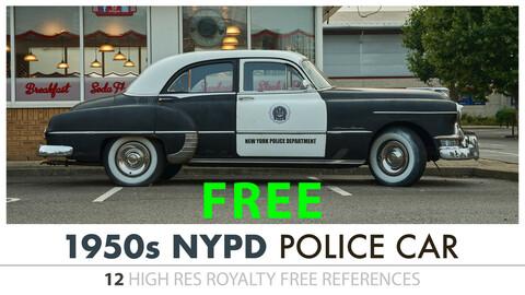 1950s POLICE CAR - FREE SAMPLE PACK