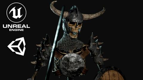 Skeleton Warrior - Game Ready
