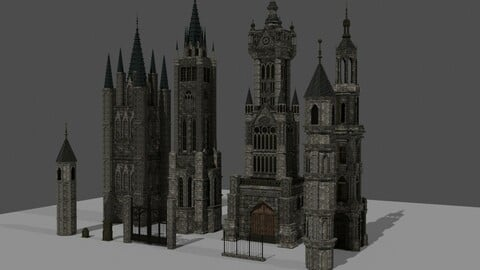 Gothic Style Architecture and Assets