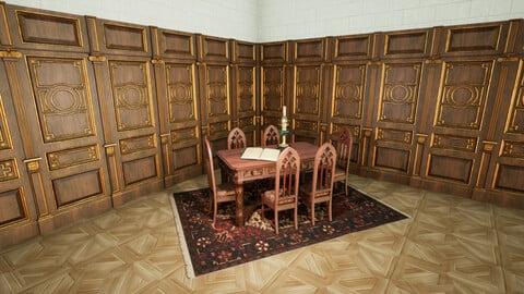 Gothic dining set 3D model