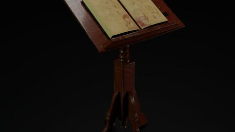 Book and Pedestal