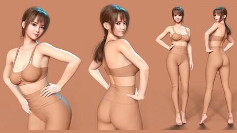 Ara Yeong For Genesis 8.1 Female (DAZ3D Character - Korean Japanese Asian)