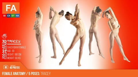 Female Anatomy |  Tracey 5 Various Poses | 40 Photos