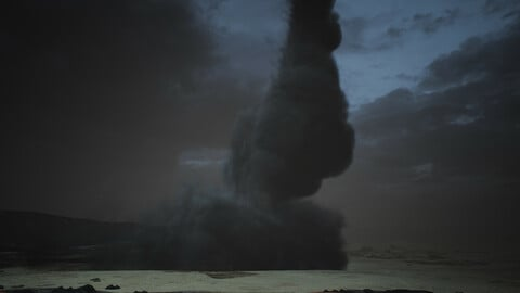 Tornado Effects Smoke And Fire (Unreal Engine)