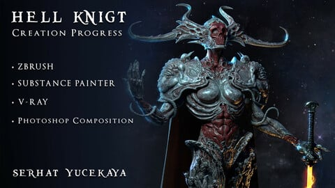 Character Creation Process: Zbrush - Substance - V-RAY - Compositing