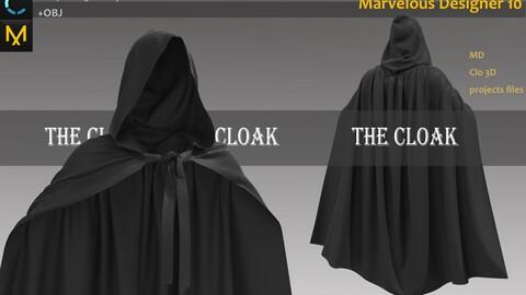 Black Cloak_Marvelous Designer, CLO3D_OBJ & FBX(if needed)