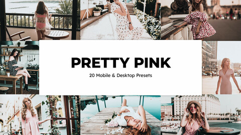 20 Pretty Pink LUTs and Lightroom Presets