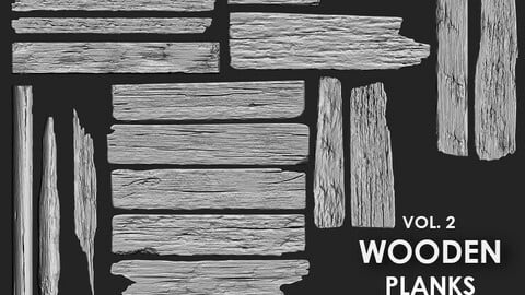 Wooden Plank IMM Brush Pack 20 in One Vol.2