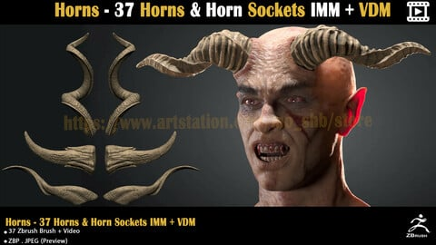 Horns - 37 Horns & Horn Sockets IMM + VDM