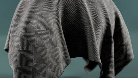 PBR - FABRIC WITH TRIANGULAR PATTERNS - 4K MATERIAL