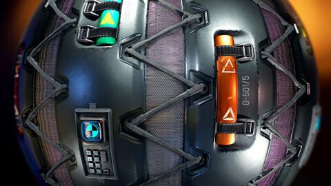 PBR - SCI FI WALL, ROBOT, OXIGEN, SPACESHIP , LABORATORY - 4K MATERIAL