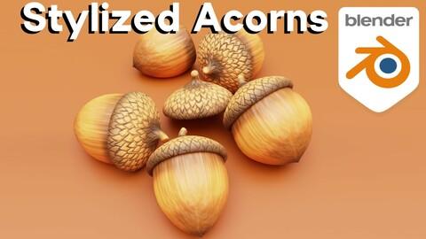 Stylized Acorns (Blender Tutorial)