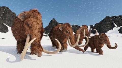 Woolly Mammoths for Blender