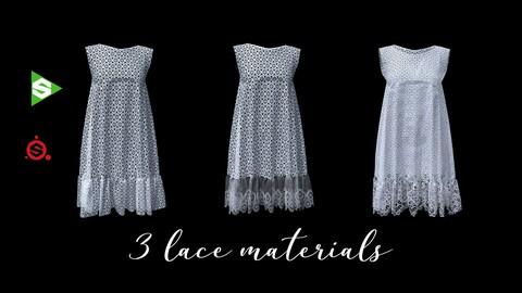 3 Procedural Lace Materials