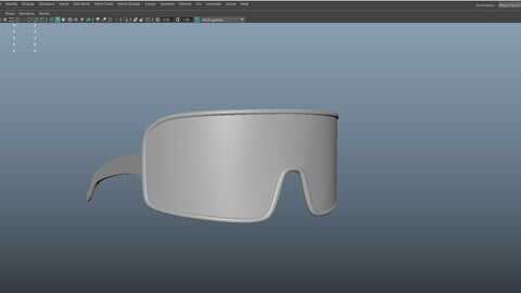 80s 90s Sunglasses for smoothing-subdivision