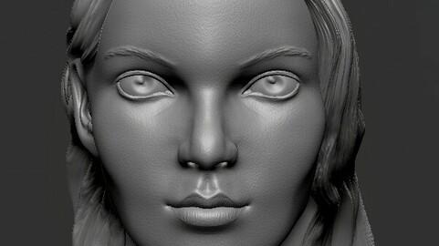 Anya Taylor (The Queen's gambit) - Head sculpt