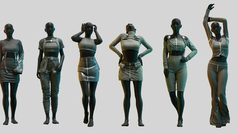 Pack Of Female Aesthetic Outfits