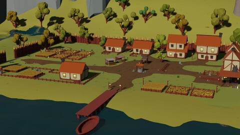 Low Poly - Medieval Town