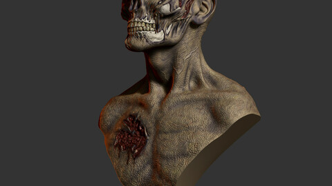 Zombie bust STL