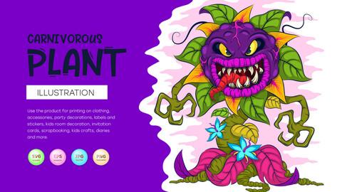 Cartoon carnivorous plant.