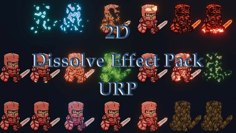 2D Dissolve Effect Pack For The Universal Render Pipeline