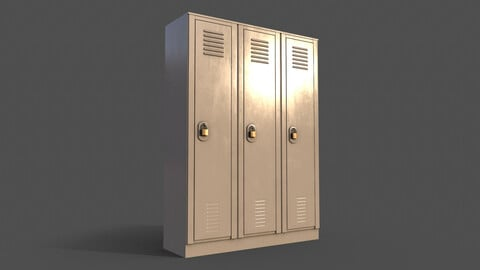 PBR School Gym Locker 01 - White
