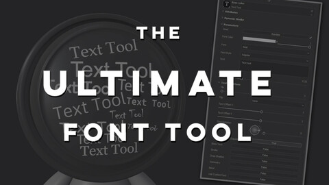 The Ultimate Text Tool - Substance Painter