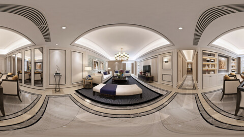 c neo-classical style living room dining room 30