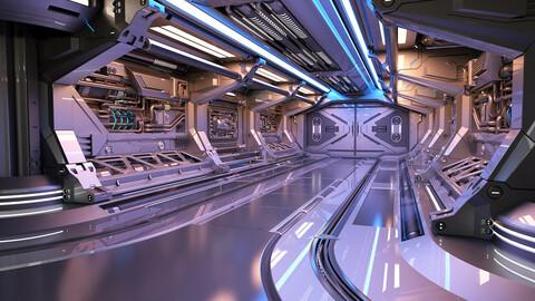 Sci - Fi Modular Corridor 2 Engine Section