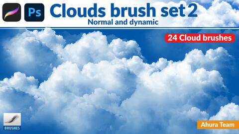 Normal and dynamic clouds brush set 2