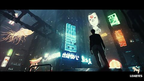 Cyberpunk Japan Holograms / Neon Set ( Set of 51 Holograms )