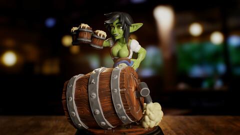 Goblin Bar Maid Miniature